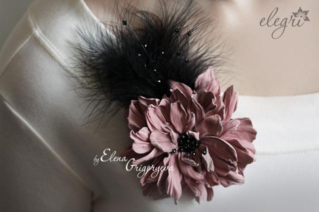 фантазийный цветок, цветок брошь, обучение цветам, елена григорьева цветы