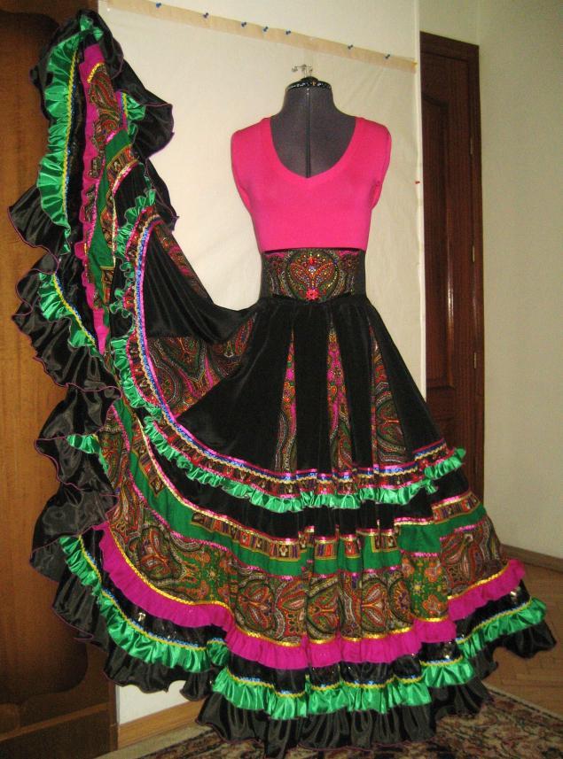 Цыганские юбки фото своими руками
