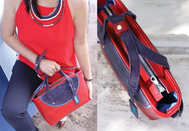 летняя сумка, синий