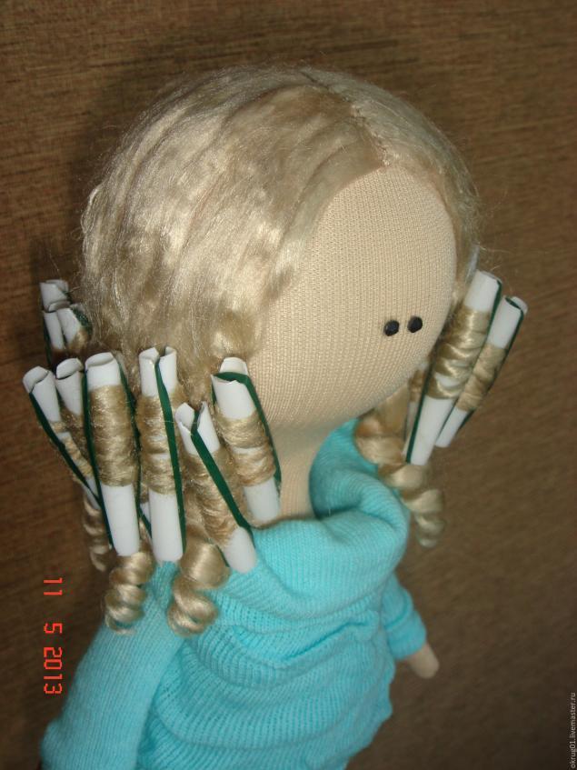 Как сделать бигуди кукле