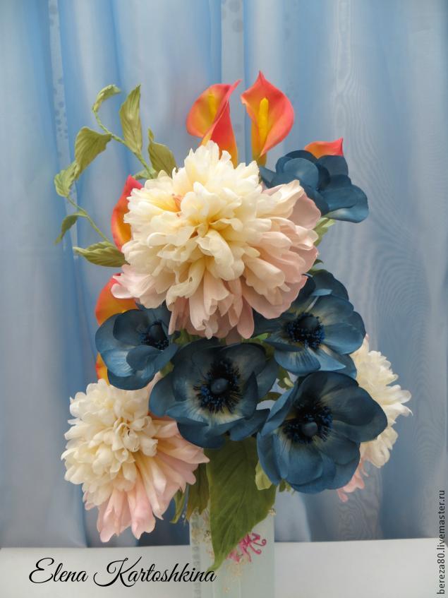 Создание простого и очень красивого цветка &8211 каллы из шелка, фото № 11