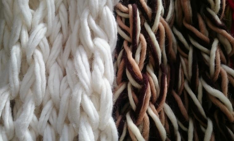 шарф снуд, мастер-класс, вязание, день валентина
