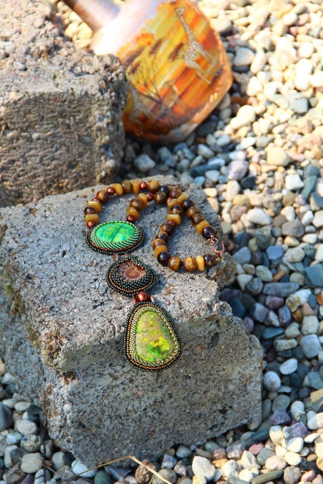 этно, украшения с камнями