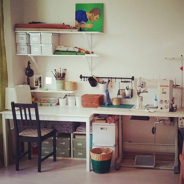 рабочее место, мастерская, творчество, освещение, дизайн, хранение, материалы для творчества, материалы