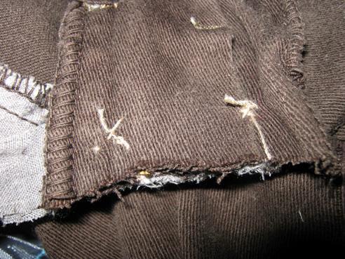джинсы с вязаным поясом