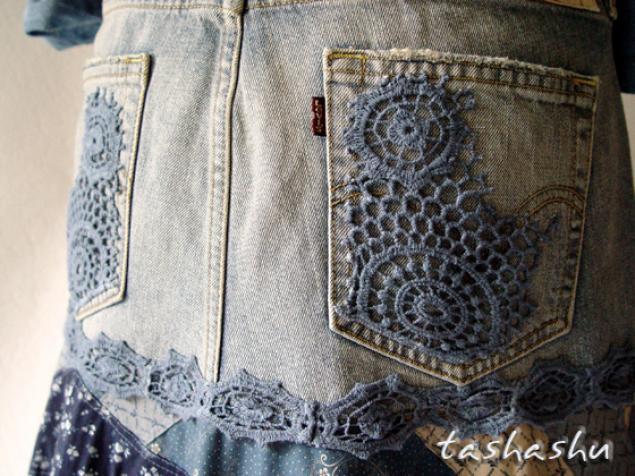 юбка из лоскутков