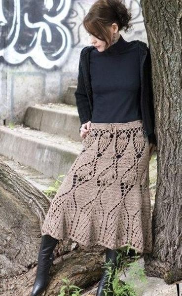 Вязанные юбки машинкой