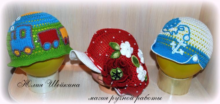 шляпка крючком, шляпка для девочки, шляпка летняя, панама крючком, на лето крючком