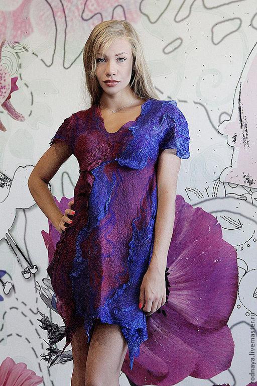 платье женские голубого оттенка