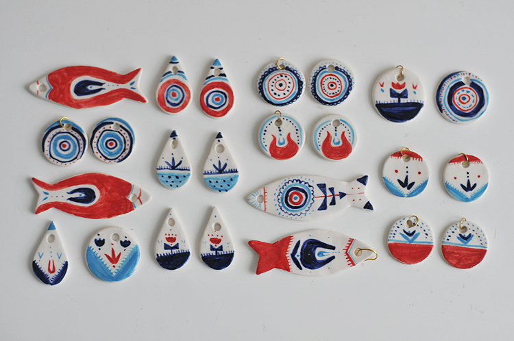 керамика, сережки из фарфора, райские яблоки, приглашение на маркет, artplay