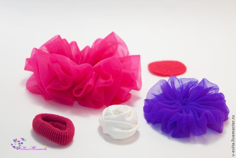 Делаем цветочек — текстильное украшение для волос, фото № 10