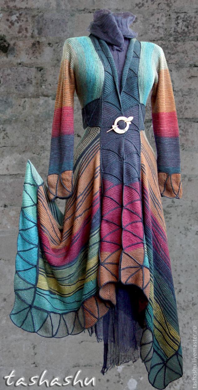 针织:剩余纱线的大衣 - maomao - 我随心动