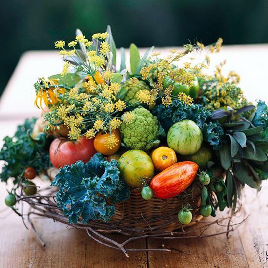 Композиции с овощей и фруктов
