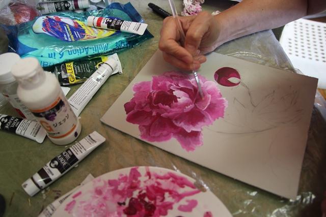 Акрил краски как рисовать