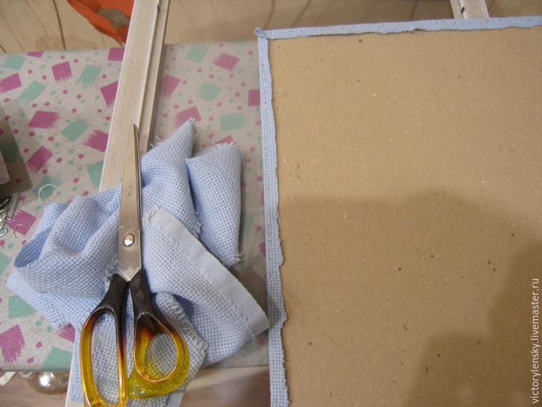 Оформление готовой вышивки в рамку, фото № 12