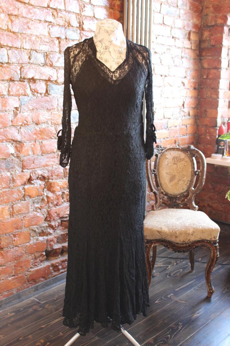 старинное платье, винтажное платье, мода 30-х годов, история костюма