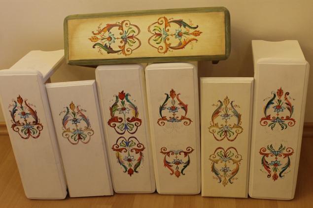 роспись мебели, декоративная живопись, итальянский орнамент