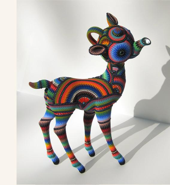 1. Бисерное искусство от Jan Huling Художница из Чикаго создает яркие фактурные работы с помощью бисера...