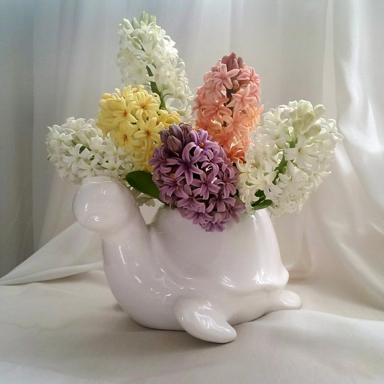 цветы из глины, цветы
