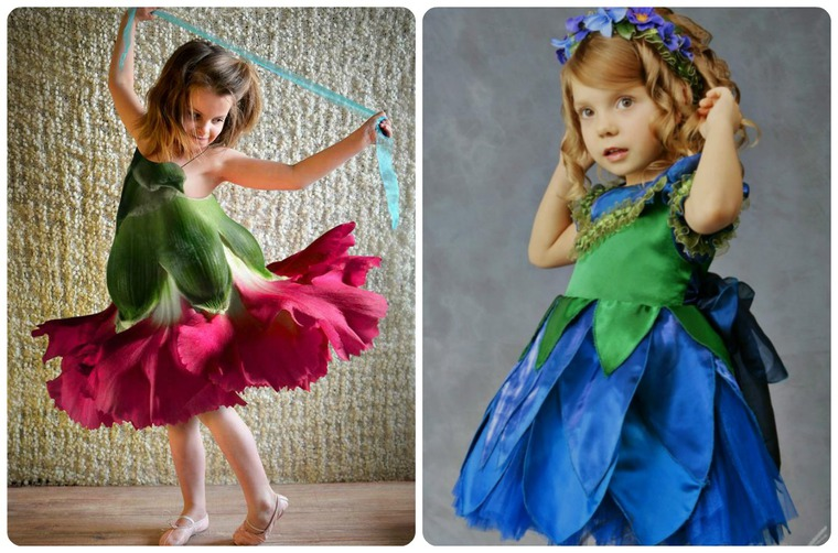 Платье с цветами для фотошопа