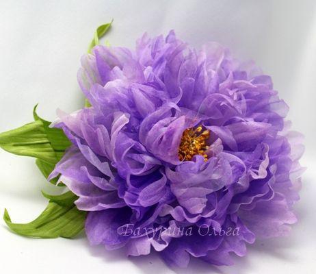 цветы ручной работы, цветок, мастер класс, пион, брошь цветок