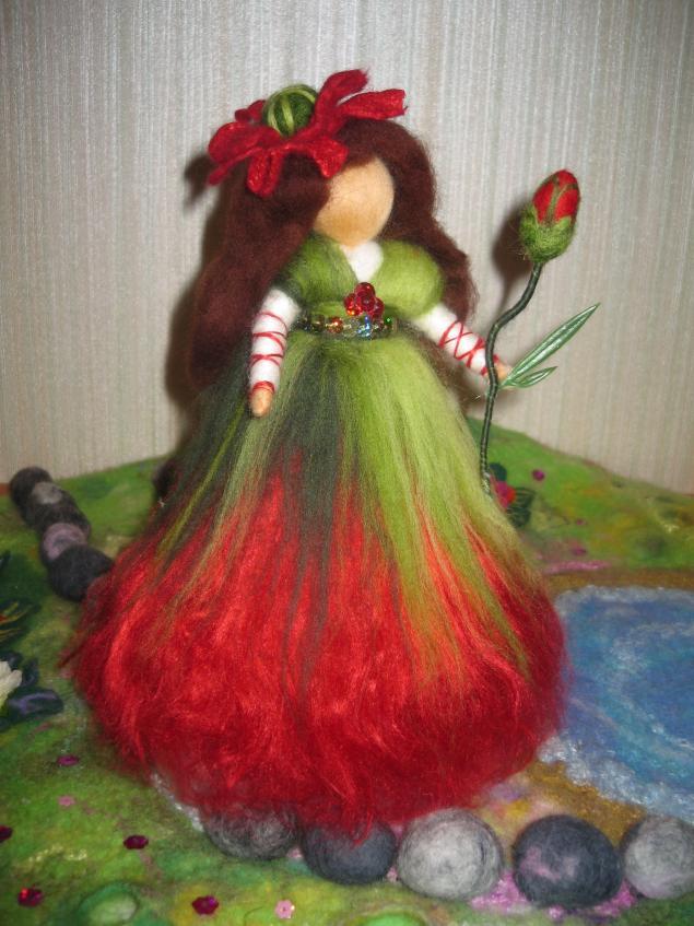 мак, маковое поле, фея, волшебница, куколка, вальдорфская игрушка, красный мак, сказка
