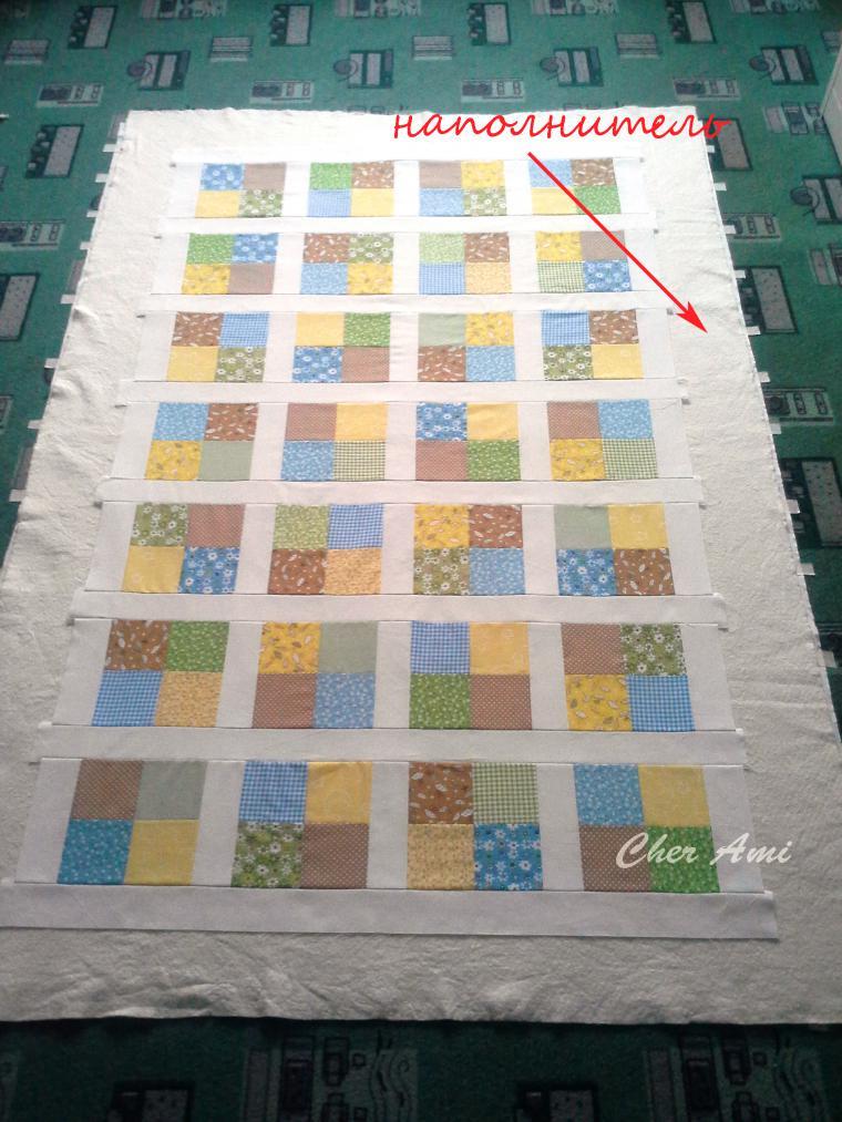 Мастер-класс: шьем несложное лоскутное одеяло, фото № 13
