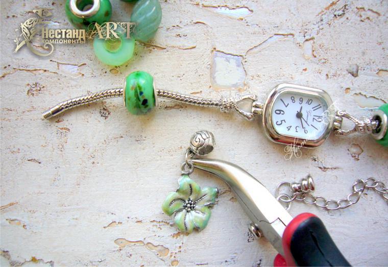 watch on bracelet, jewelry mk
