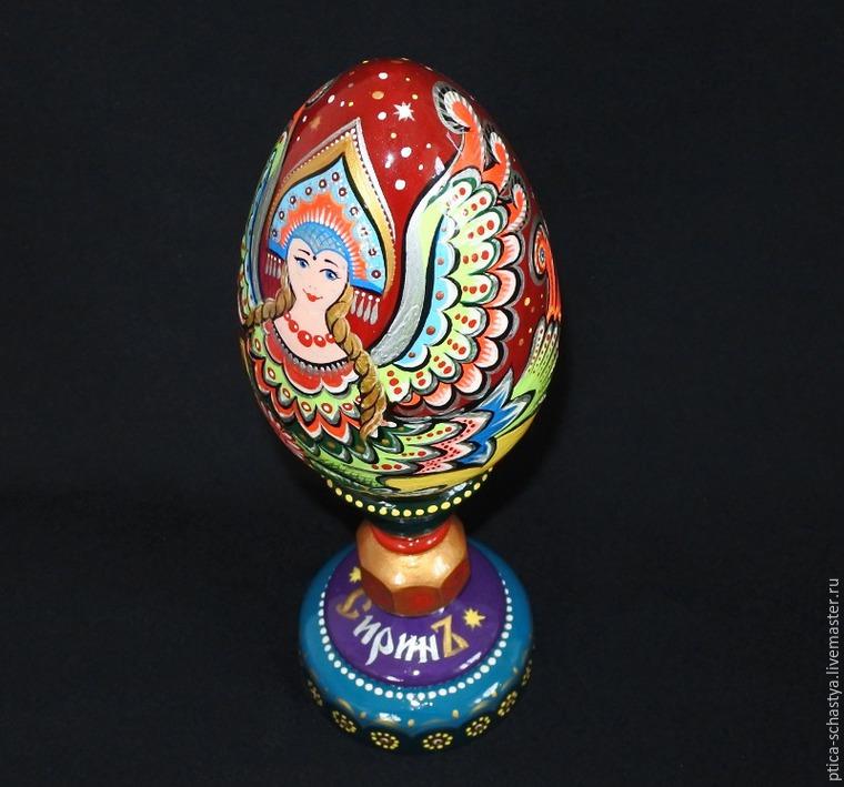 Делаем пасхальное яйцо «Сирин», фото № 22