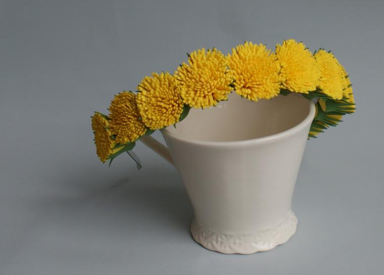 украшение, цветы из фоамирана