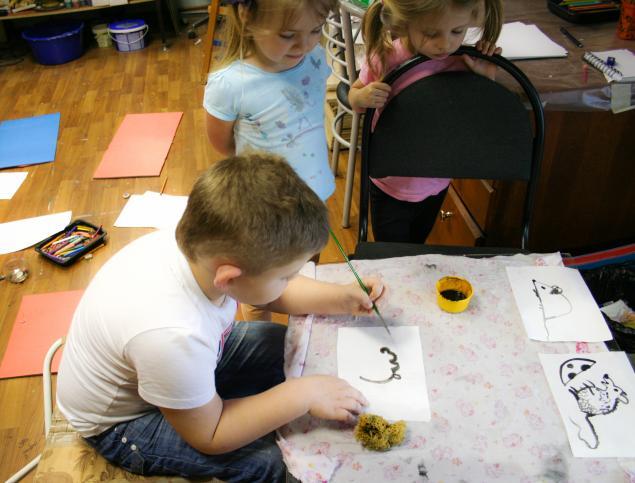 дети, рисунок