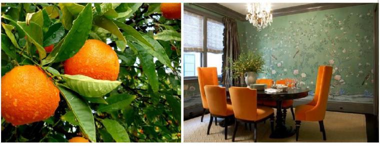 оранжевый в интерьере, оранжевые подушки, оранжевый акценты, сочетания с оранжевым, подушки-думки