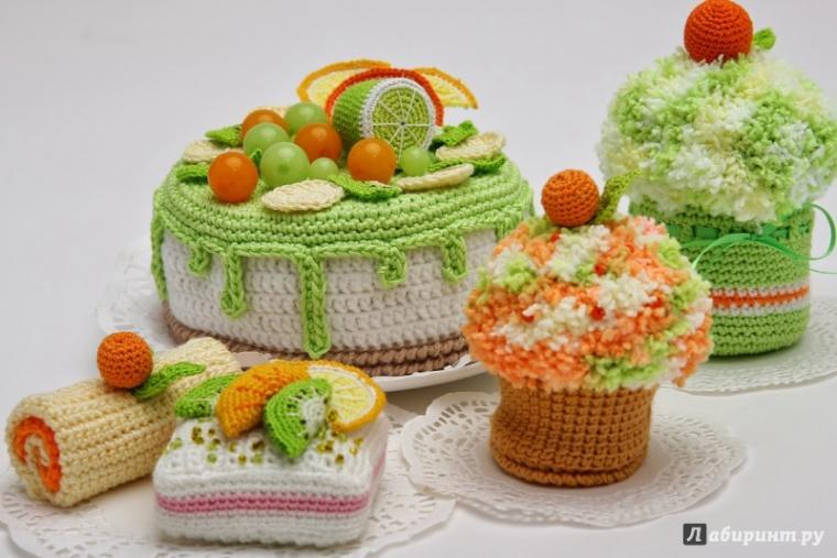 вязание, десерт