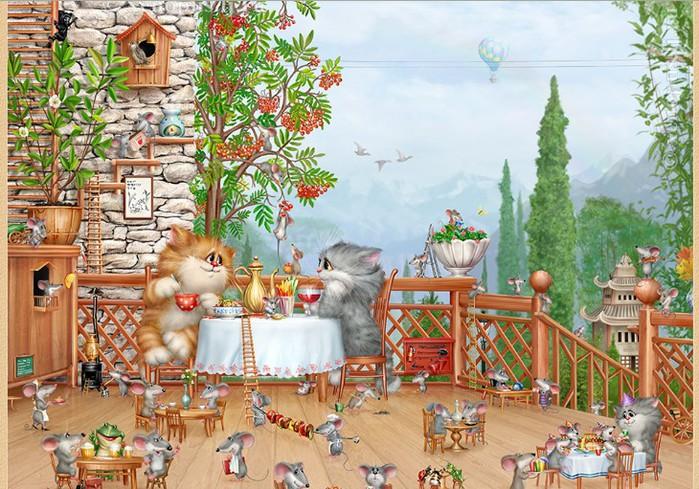 сказочный персонаж, котики, рассказ, для малыша