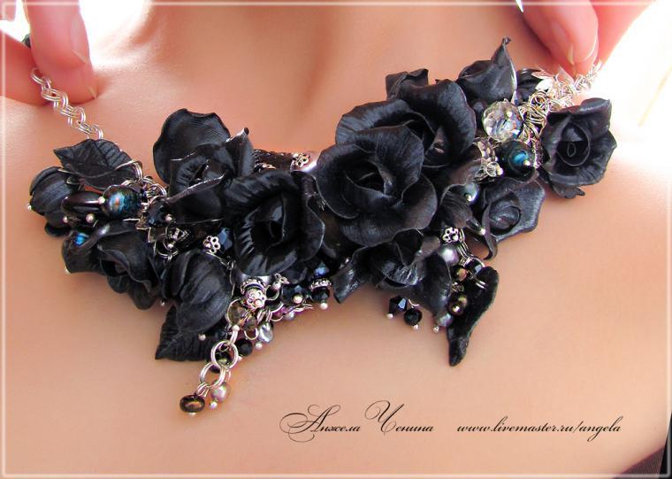 розы готика браслет