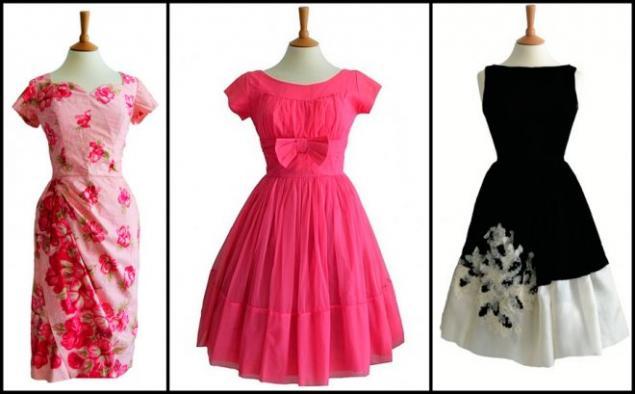 платье в стиле 60-х на полных фото
