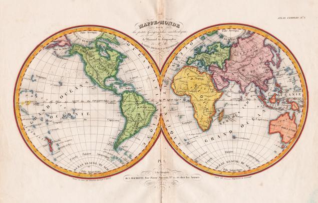 географическая, акварель