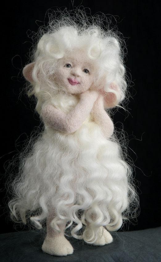 мастер-классы, авторская техника, войлочная кукла