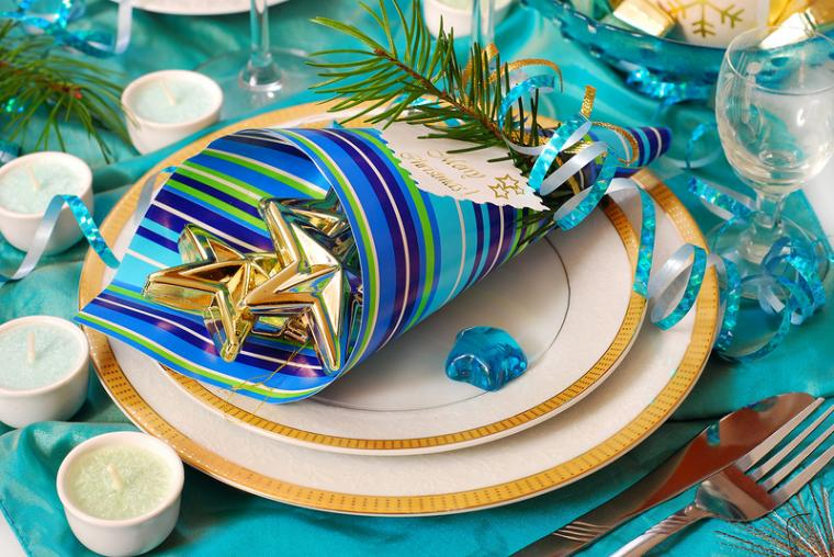 Красивые тарелки на новый год
