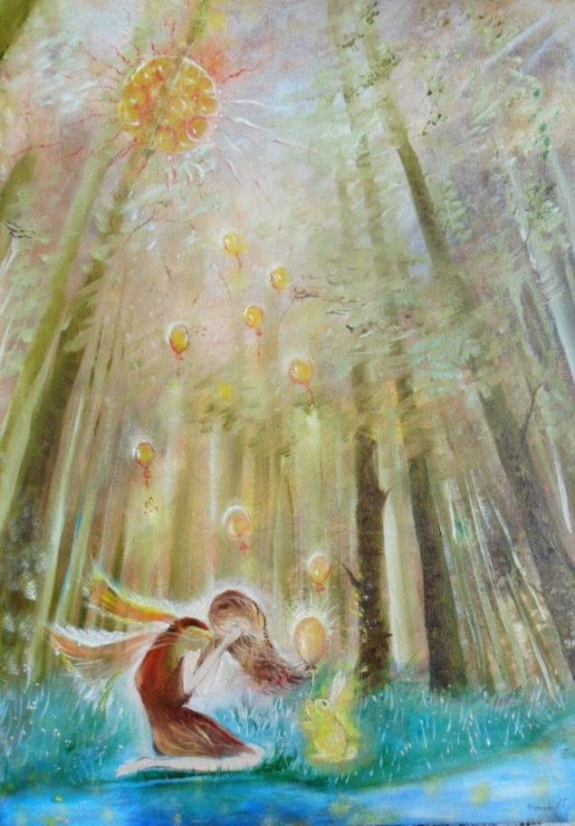 картина, картина в подарок, картина сказка, сказочная картина, солнце взойдёт, надежда, авторская картина, чудеса, солнечная, картина надежда, всё будет хорошо, новикова людмила
