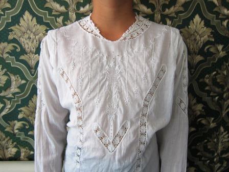 антикварная блуза