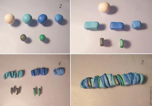 серьги из пластики