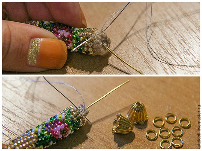 Вяжем бисерный жгут крючком - Ярмарка Мастеров - ручная работа, handmade