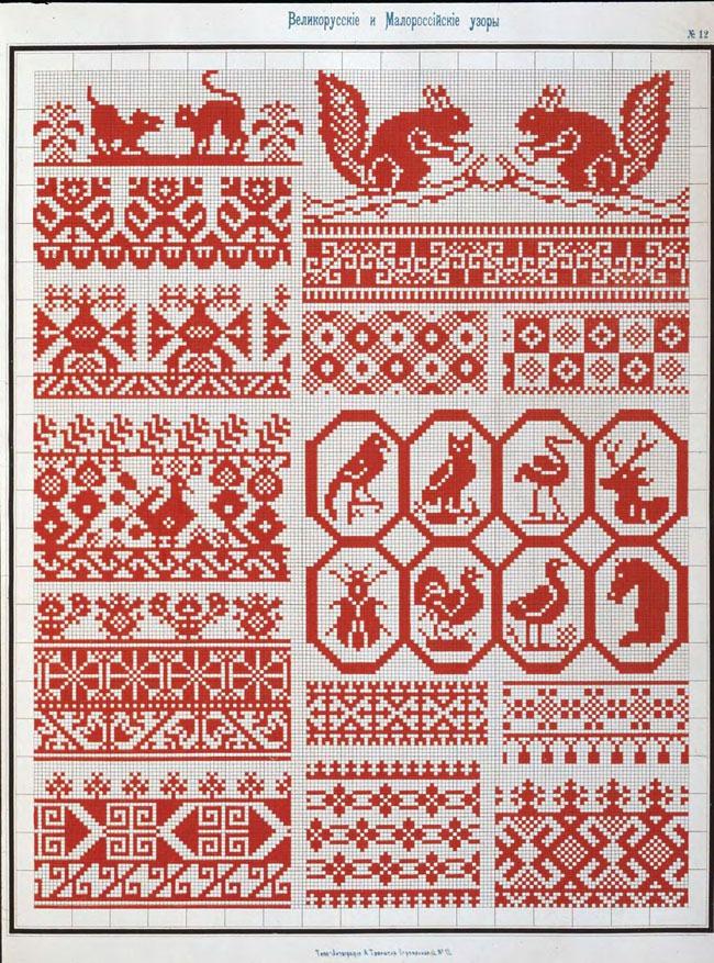 Вышивки крестом русские мотивы