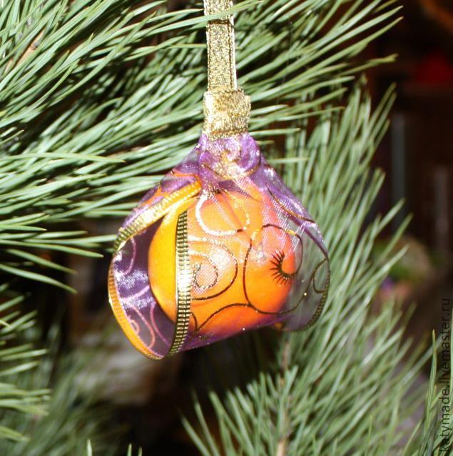 Мандарин на елку - Ярмарка Мастеров - ручная работа, handmade