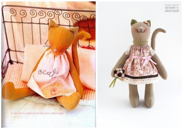 авторская игрушка, кошка, зайчик, идеи для творчества