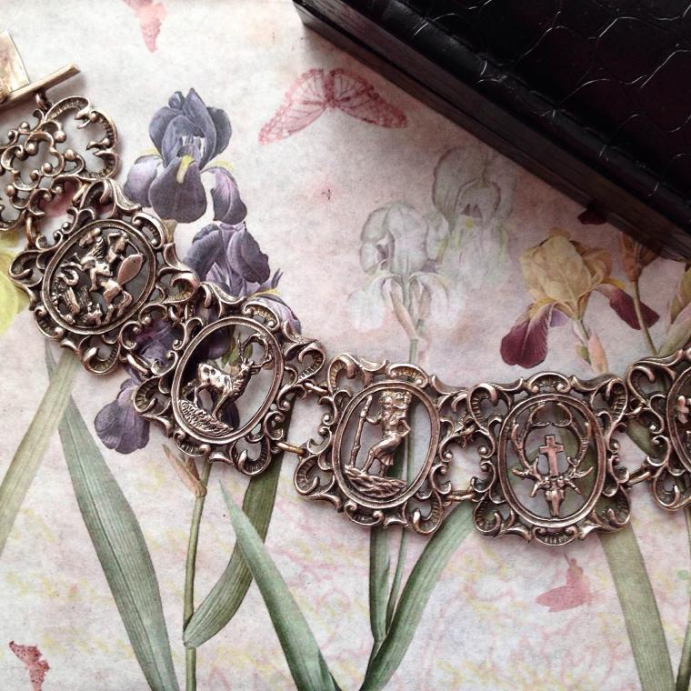 браслет, винтаж, винтажные украшения, старинные украшения, что подарить, подарок жене, подарок любимой, серебро, загадка, святой, икона