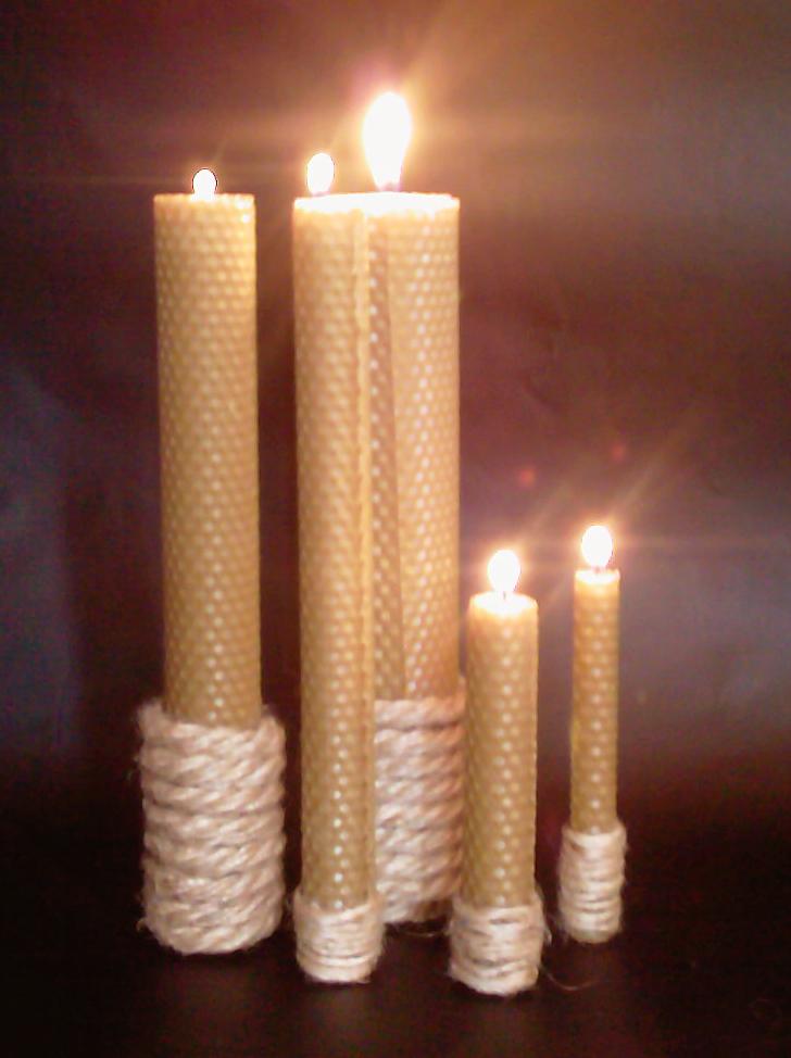 восковые свечи, травяные свечи, оригинальный подарок