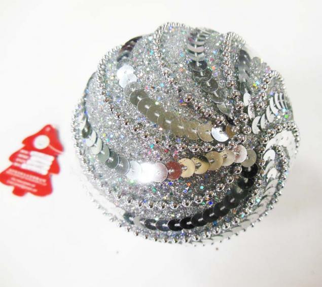 Новогодние шары с пайетками своими руками