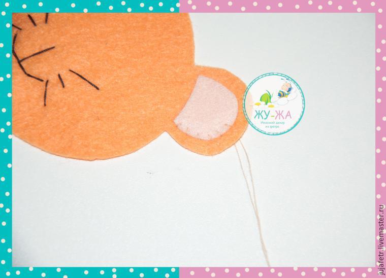 Шьём мягкую игрушку «Лёвушка» из фетра, фото № 6